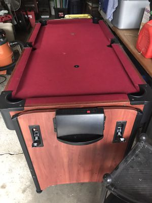 2 in 1 air hockey pool table 5ft works for Sale in Crescent Township, PA