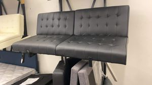Black Faux Leather Sofa for Sale in Houston, TX