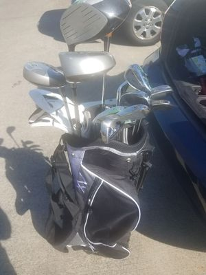 Golf clubs, gloves, and bag for Sale in Greensboro, NC