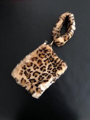 Fur Cheetah Print Wristlet Bag for Sale in Atlanta, GA