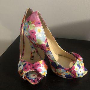 Multi Color Floral Heels, Size 8 for Sale in Pembroke Pines, FL