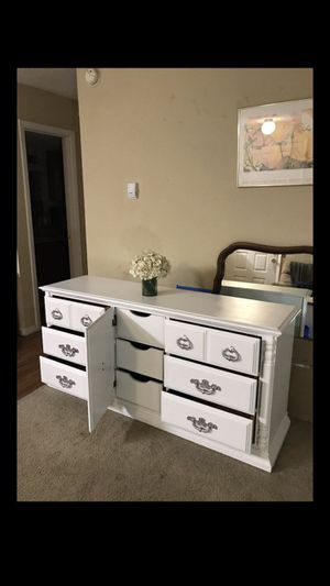 9 drawer dresser refinished in white. 66 inches ( left to right), 18 inches (front to back), 31 inches tall for Sale in Mesquite, TX