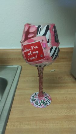 Great gift! Who needs a man wine glass. NEW with gift box for Sale in San Angelo,  TX
