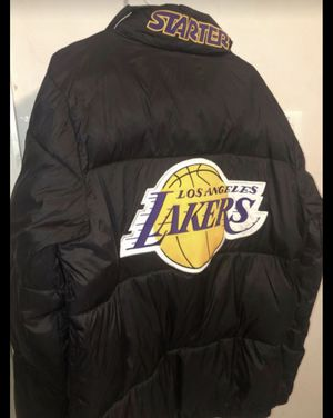 Lakers Jacket and Mitchell am Ness Hat for Sale in Avon, IN