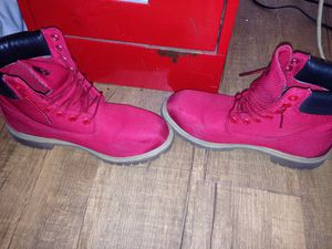Red waterproof timberlands for Sale in San Francisco, CA