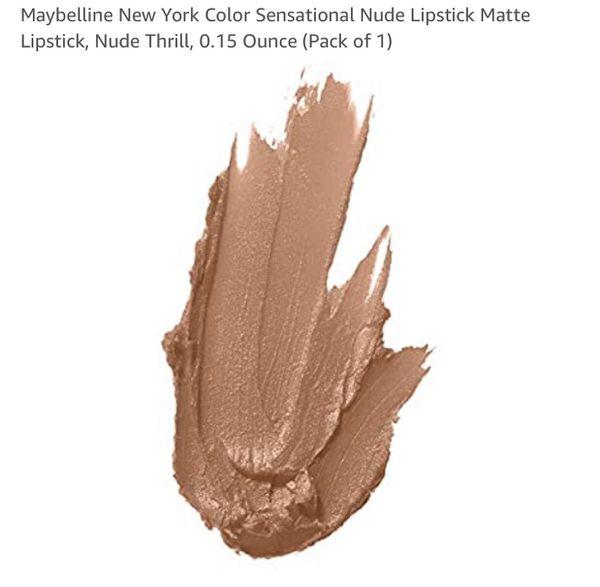 Maybelline New York Nude Thrill Color Sensational Matte Bold Lipstick NEW