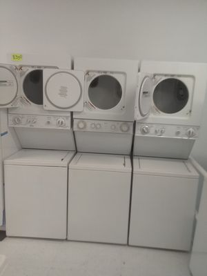 Kenmore ge whirlpool stackable washer and dryer used good condition 90days warranty 350 each🔥🔥 for Sale in Mount Rainier, MD