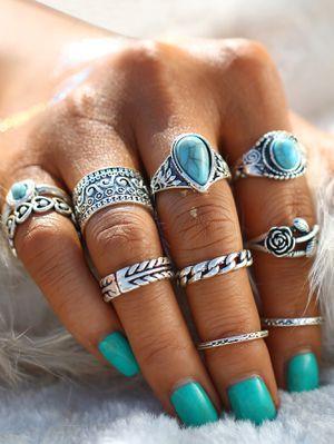 Boho Stone Ring Set 10pcs One size for Sale in Richmond, VA