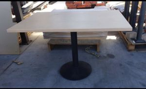 Restaurant tables with bases 80 a piece table only 40 a piece bradio sizes new never used 30X60 Solid wood for Sale in Cerritos, CA
