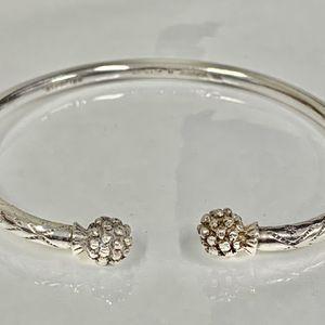 AC made in Jamaica W.I. Cuff Bracelet .925 Sterling Silver for Sale in Dallas, TX