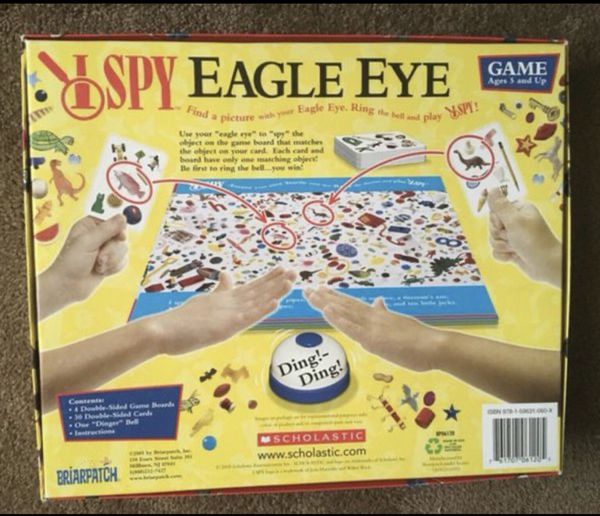$9 FIRM - BOARD GAME - I SPY EAGLE EYE - **NEW, NEVER USED*