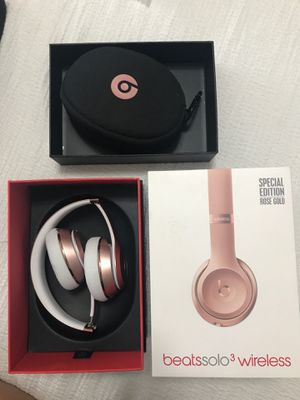 Beats solo 3 wireless rose gold for Sale in Vancouver, WA