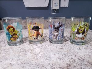 Shrek McDonald's glass cups for Sale in Waddell, AZ
