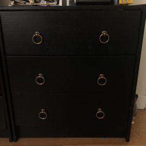 Wood Dresser (2) Black for Sale in Coronado, CA