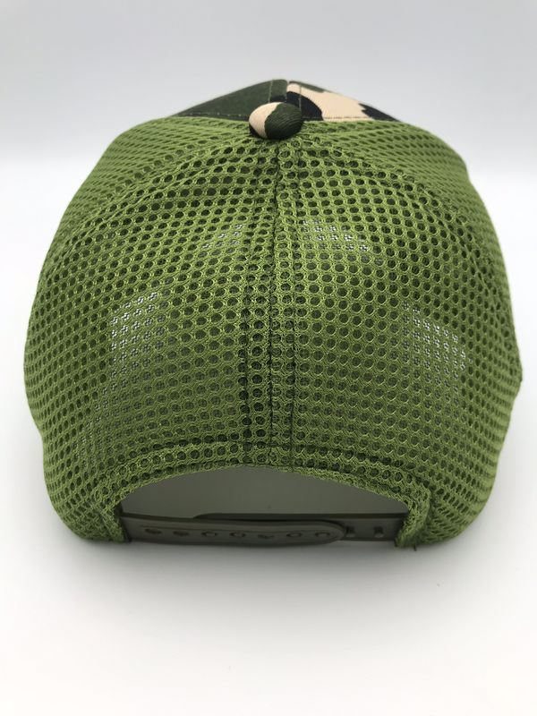 Adjustable Light Mesh & Fabric Camo Hat Snap Back *Free delivery within 5 miles