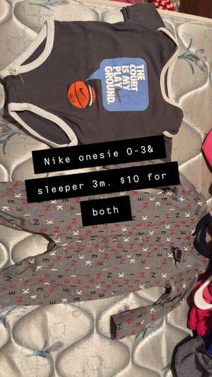 Boys 0/3m Nike onesie & sleeper both for $8 for Sale in Leeds, AL