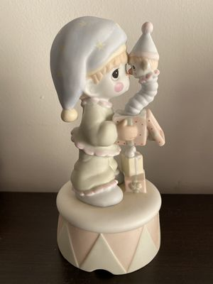 "Precious Moments ""God Sent You Just In Time"" Porcelain Musical Figurine, Enesco #15504 for Sale in Durham, NC"