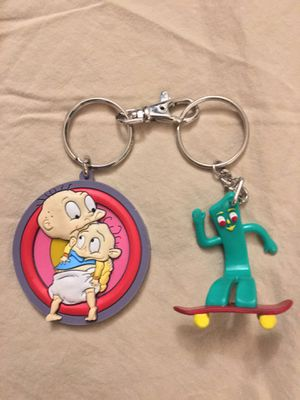 Rugrats and Gumby keychain 90s flashback for Sale in Everett, WA
