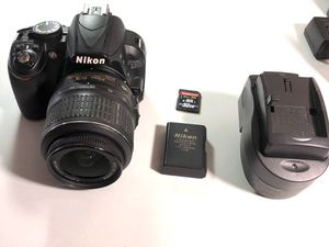 Nikon d3100 digital slr dslr camera with brand lens and memory card for Sale in West Islip, NY