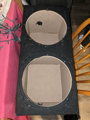 12 inch sealed box for 2 subwoofers $60 OBO for Sale in Portland, OR