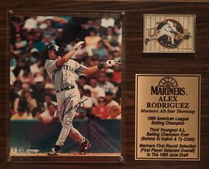 Alex Rodriguez Certified Authentic Signature Signed Auto Autograph Plaque Licensed & Authenticated by MLB Baseball Stacks of Plaques for Sale in San Jose, CA
