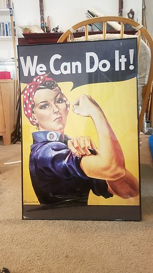 We Can Do It! 3ft Framed Potrait for Sale in Fairfax, VA