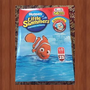 Huggins Little Swimmers Pants with 56 Ct Huggins wipes for Sale in Willingboro, NJ