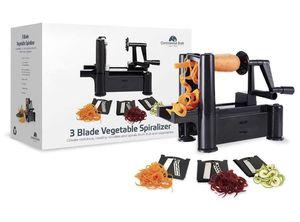 Continental Shift - Smartest Black 3-Blade Zoodler Spiralizer Vegetable Slicer - Veggie Pasta, Noodle, Spaghetti Maker - for Low Carb Paleo Gluten-Fr for Sale in Brooklyn, NY