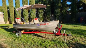 12ft Sea Nymph Aluminum Boat w/ New Trailer, 15hp Evinrude Motor, Much More! Ready for Fishing! for Sale in West Sacramento, CA