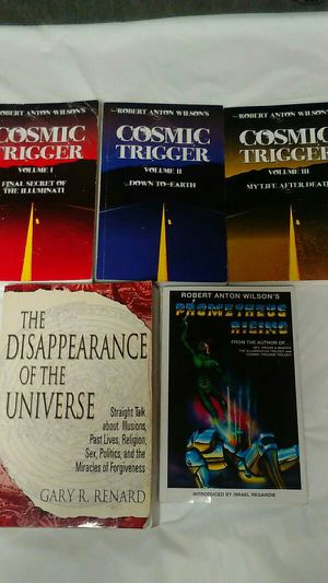 Cosmic Trigger Books + The Disappearance of The Universe for Sale in San Diego, CA