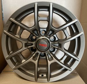 "Set of (4) 17"" TRD Pro style 2020 wheels (6x139) fits Toyota Tacoma, FJ Cruiser, 4Runner for Sale in Chula Vista, CA"