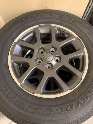 Set of 4 Takeoff Jeep Gladiator Overland Wheels and Tires for Sale in Orlando, FL