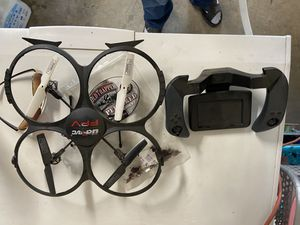 Drone works with LCD screen remote control. for Sale in Fresno, CA