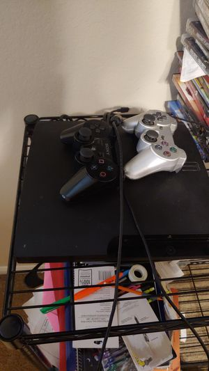 Ps3 with games and 2 controllers for Sale in Niederwald, TX