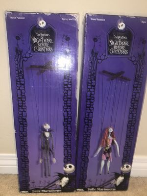 NIGHTMARE BEFORE CHRISTMAS JACK & SALLY MARIONETTES for Sale in Menifee, CA