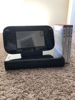 Nintendo Wii U + 6 Games for Sale in Seattle, WA