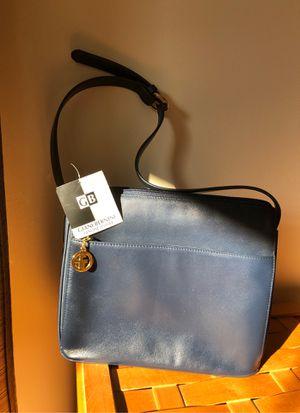 Gianni Bernini Blue Leather midsize bad for Sale in Martinsburg, WV