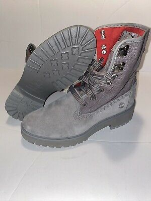 gray and red timberland boots for Sale in Austin, TX