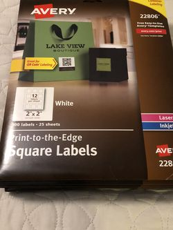 11- Avery 22806 Square Labels for Sale in Flowery Branch,  GA
