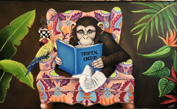 Modern art, oil painting, monkey painting, monkey, monkey oil painting, home decor, Christmas gift, gift