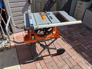 Ridgid 10-inch jobsite compact table saw for Sale in Brea, CA