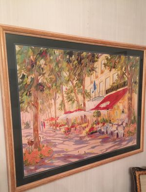 """French Themed Wall Art In Glass 42"""" By 33"""" for Sale in Pontotoc, OK"""