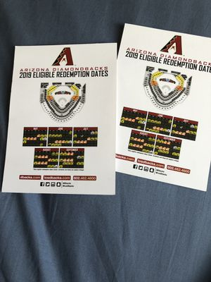 2 dbacks game vouchers for Sale in Mesa, AZ