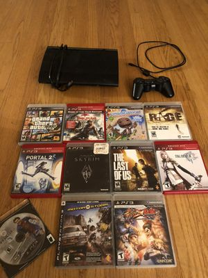 PS3 and various games bundle for Sale in Bainbridge Island, WA