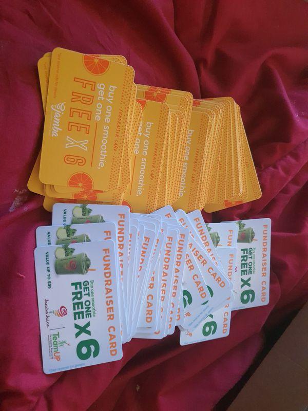 JAMBA JUICE BOGO CARDS