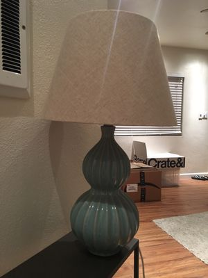Turquoise lamp and shade for Sale in San Diego, CA