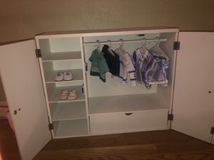 American Girl Doll Dresser! BONUS CLOTHES INCLUDED!! for Sale in Pompano Beach, FL