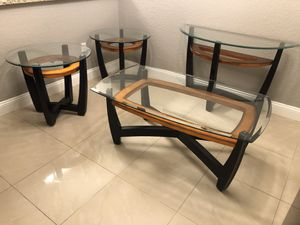 Glass Coffee and end tables for Sale in Fort Lauderdale, FL