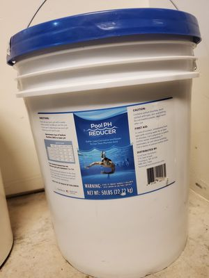 Pool & Spa pH Reducer | pH Down | Sodium Bisulfate | Muriatic Acid Replacement - 50 lb Pail for Sale in Bakersfield, CA
