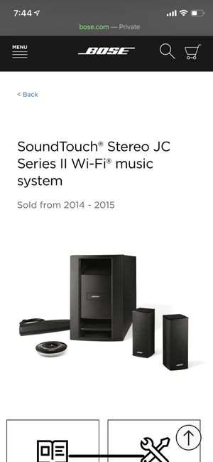 Bose SoundTouch Stereo JC WiFi Music System for Sale in Medina, WA